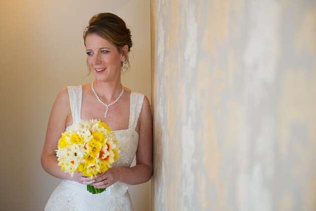 bride portrait before her wedding ceremony