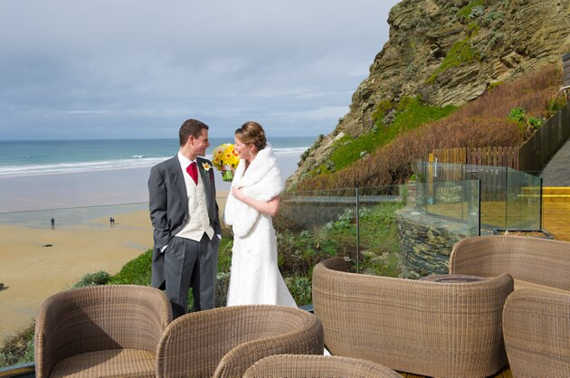wedding photographer Watergate Bay Cornwall