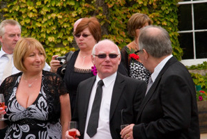 Tregenna Castle wedding maitre d Charles relaxing