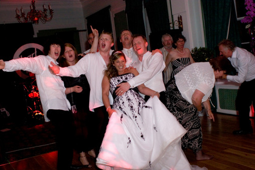 wedding reception fun for bride groom and guests