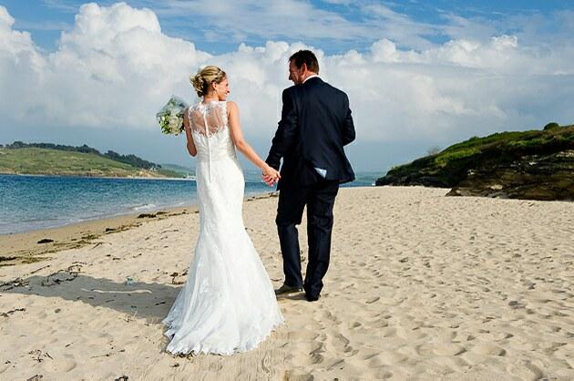 Beach wedding photograph Padstow