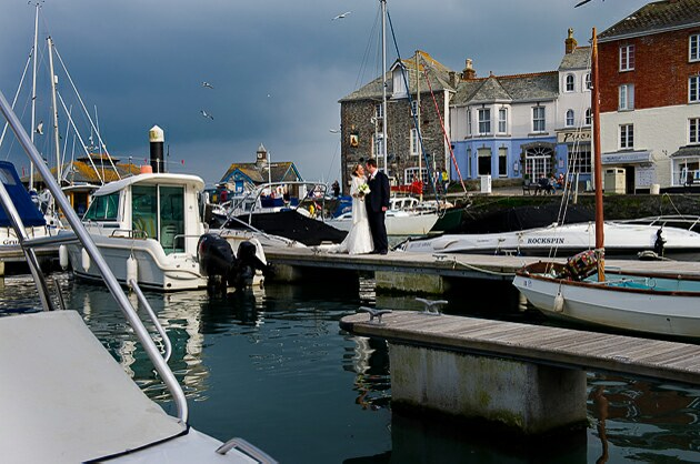 Photographers Padstow harbour Cornwall