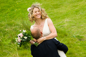 wedding day fun photographer Cornwall