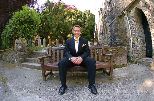 great wedding photograph of the groom before his wedding ceremony