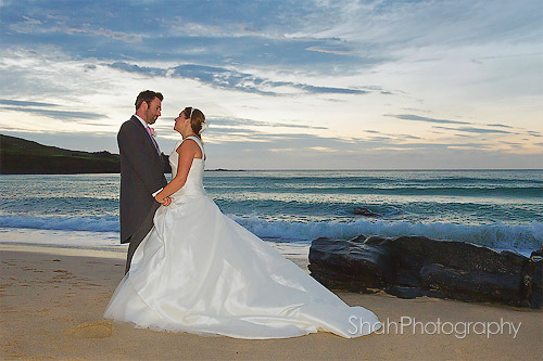 beach wedding photography st ives cornwall