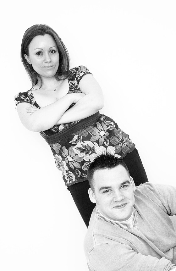 Pre wedding photoshoot of engaged couple black and white photography