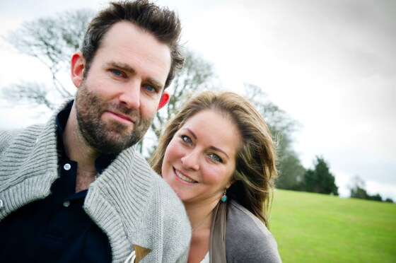 couple photographed before their wedding at Tregenna Castle Hotel their wedding venue