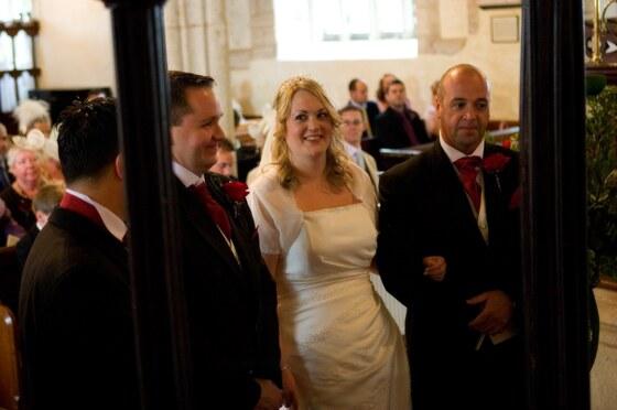 Church wedding photograph by wedding photographer Pervaiz Shah