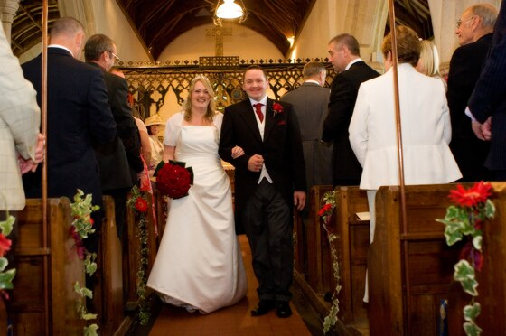 Wedding ceremony by wedding photographer in Cornwall