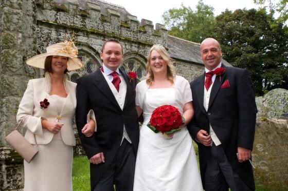 group wedding photographer Cornwall