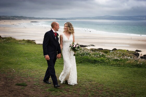 wedding photography of weddings at Hayle in Cornwall