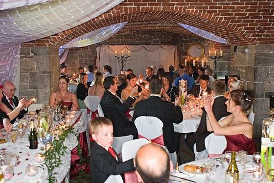 Polhawn Fort wedding reception