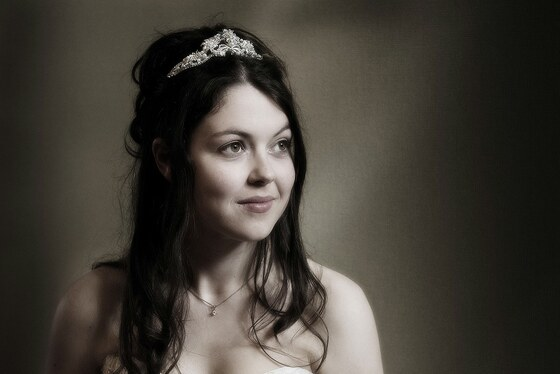 Bride photographed at the Porthminster hotel before the wedding breakfast