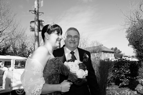 bride and father photograph
