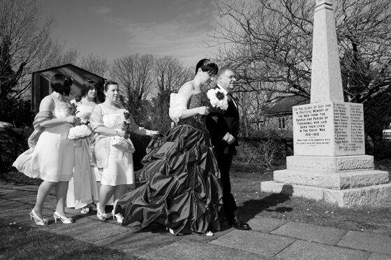 Black and white wedding photography for an edgy twist