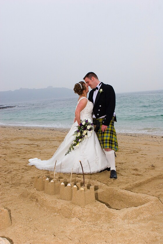 beach wedding photography in Falmouth