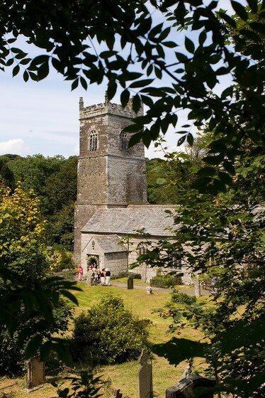 Lanteglos Church near Camelford is a pretty Cornish setting for a wedding in Cornwall