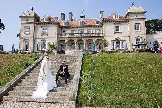 Bridal photography at Fowey Hall a great wedding venue in Cornwall