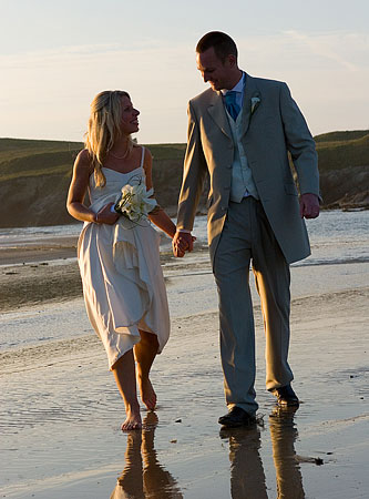 Cornwall beach wedding photograph