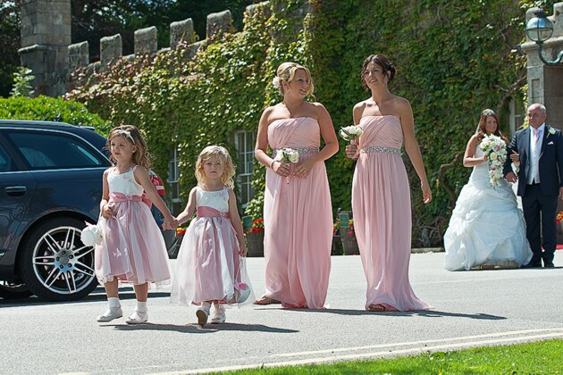 Tregenna Castle wedding photographer st ives cornwall bridesmaids