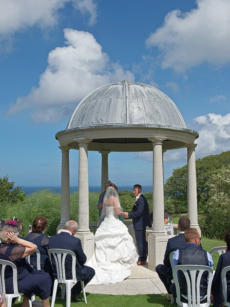 outdoor wedding ceremony photographer st ives cornwall