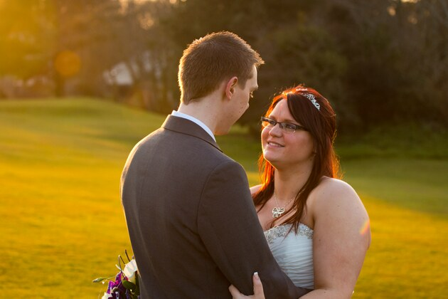 natural lighting for the bride and groom
