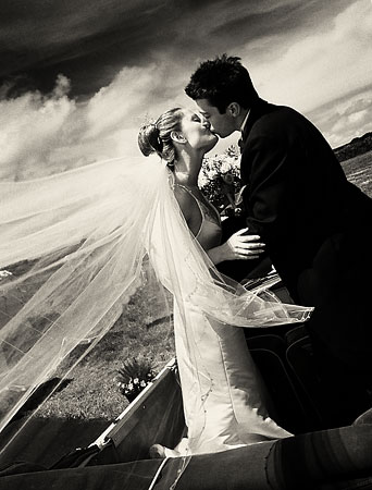 black and white wedding photography Cornwall