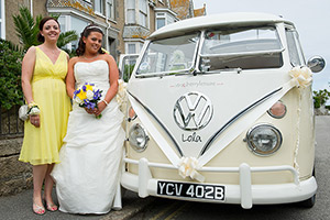 camper van wedding photographer Cornwall