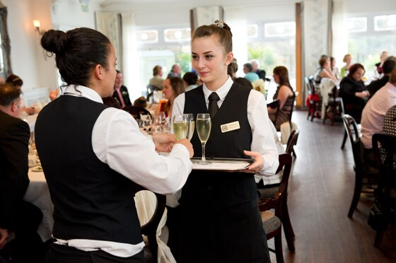 Staff at the Carbis Bay Hotel are always well turned out