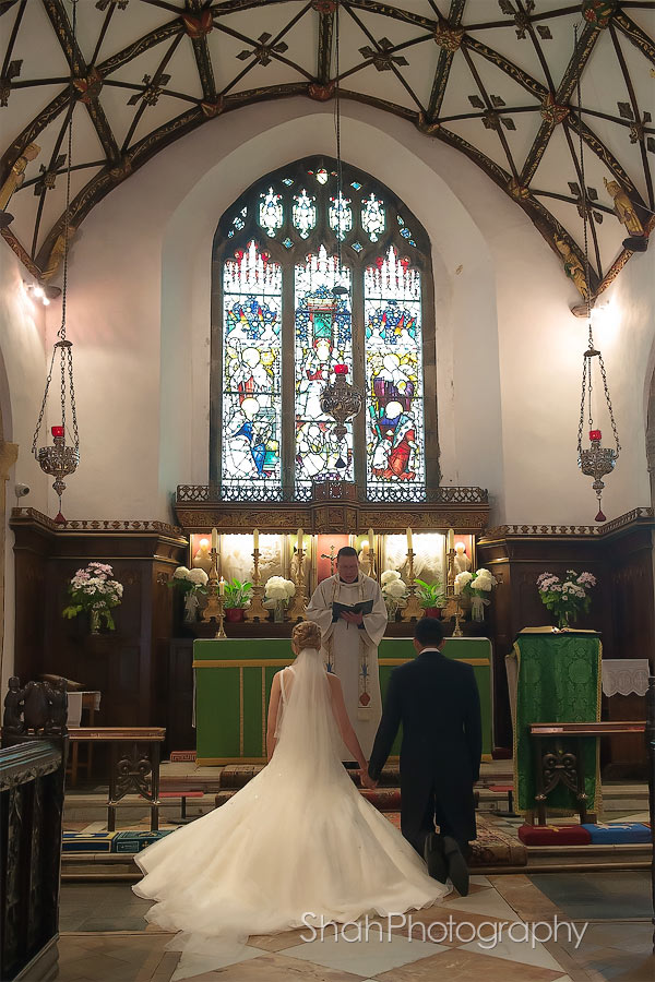 St Ives Parish Church in Cornwall is a gorgeous backdrop for wedding photographs